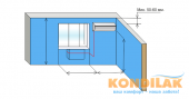 Схема №11 монтажа кондиционера сплит-системы (Вид внутреннего блока кондиционера)