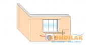 Схема №11 монтажа кондиционера сплит-системы (Вид внешнего блока кондиционера)