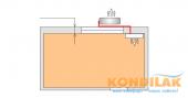 Схема №11 монтажа кондиционера сплит-системы (Вид сверху внутреннего и внешнего блоков)