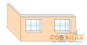 Схема №3 монтажа кондиционера сплит-системы (Вид внешнего блока кондиционера)